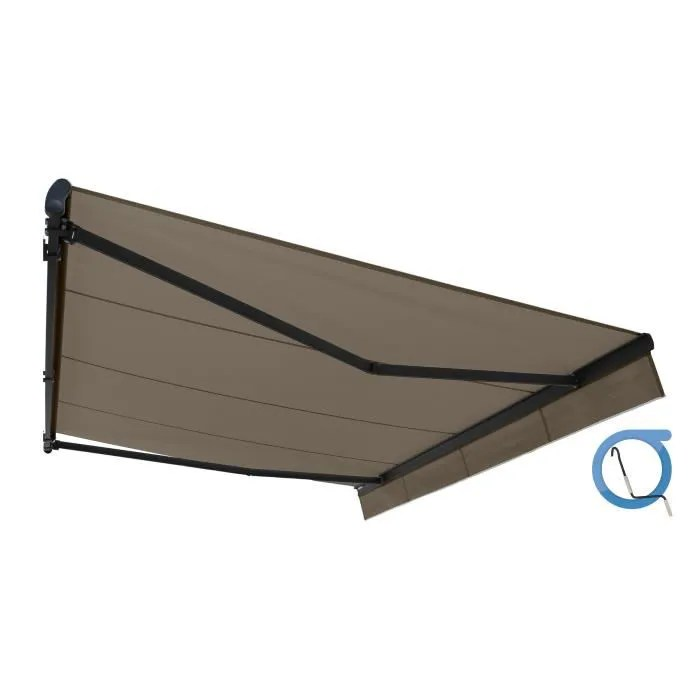 Store Banne 6x3 Store Banne Monobloc Easy Manuel 4x3 M Taupe - Achat