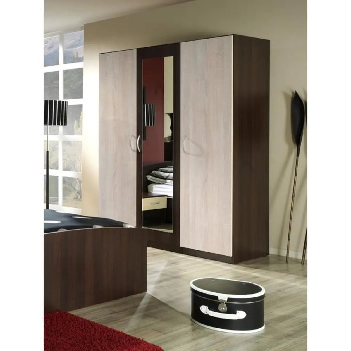 Garde Robe Porte Coulissante Pas Cher Price Factory Armoire Garde Robe Dressing Hit 3 Portes
