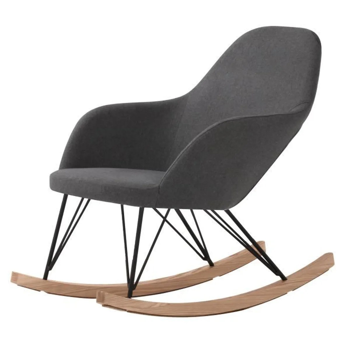 Fauteuils Rocking Chair Rocking Chair Malibu Gris Achat Vente Fauteuil Gris