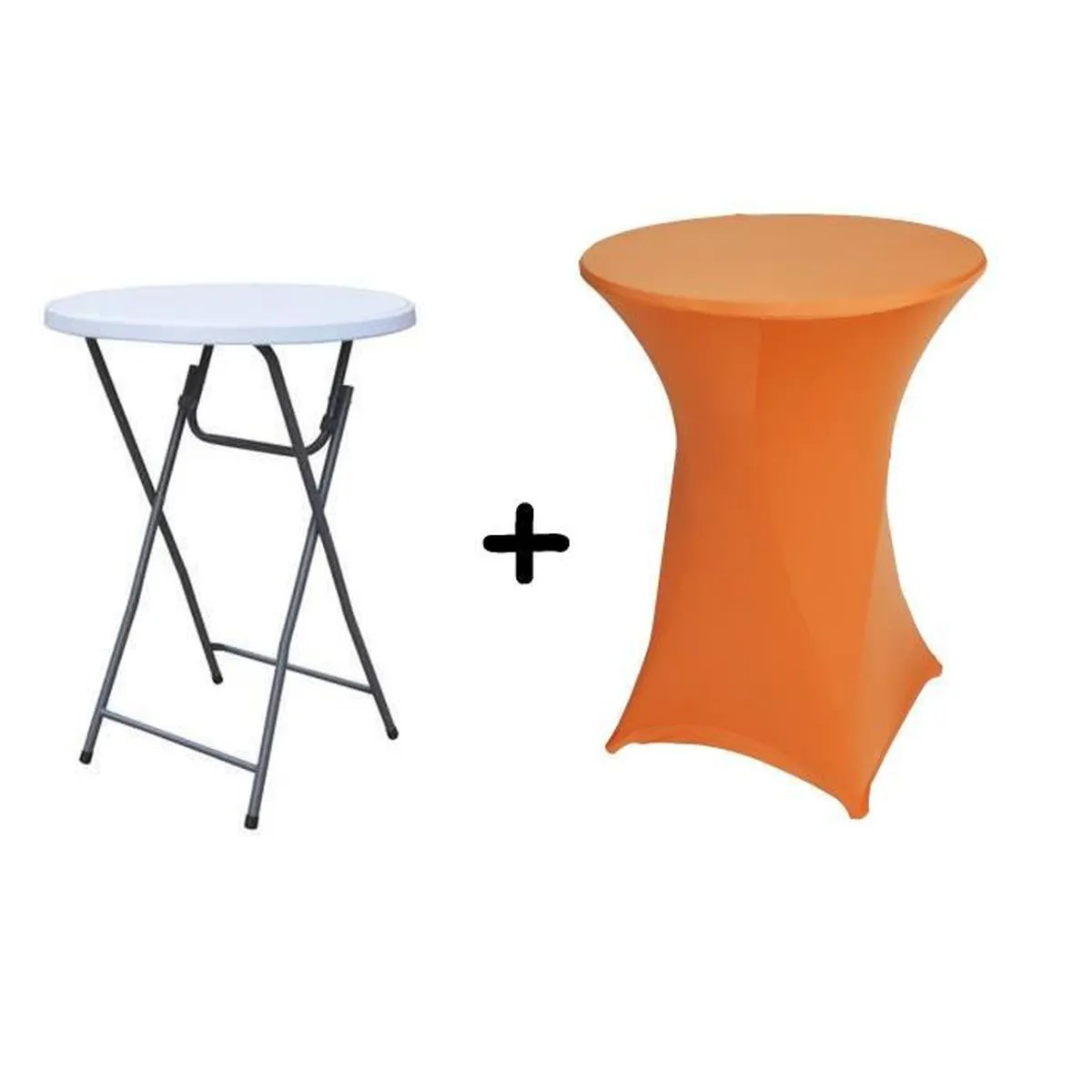 Mange Debout Cdiscount Table Haute Bar Pliante Mange Debout 43 Housse Orange