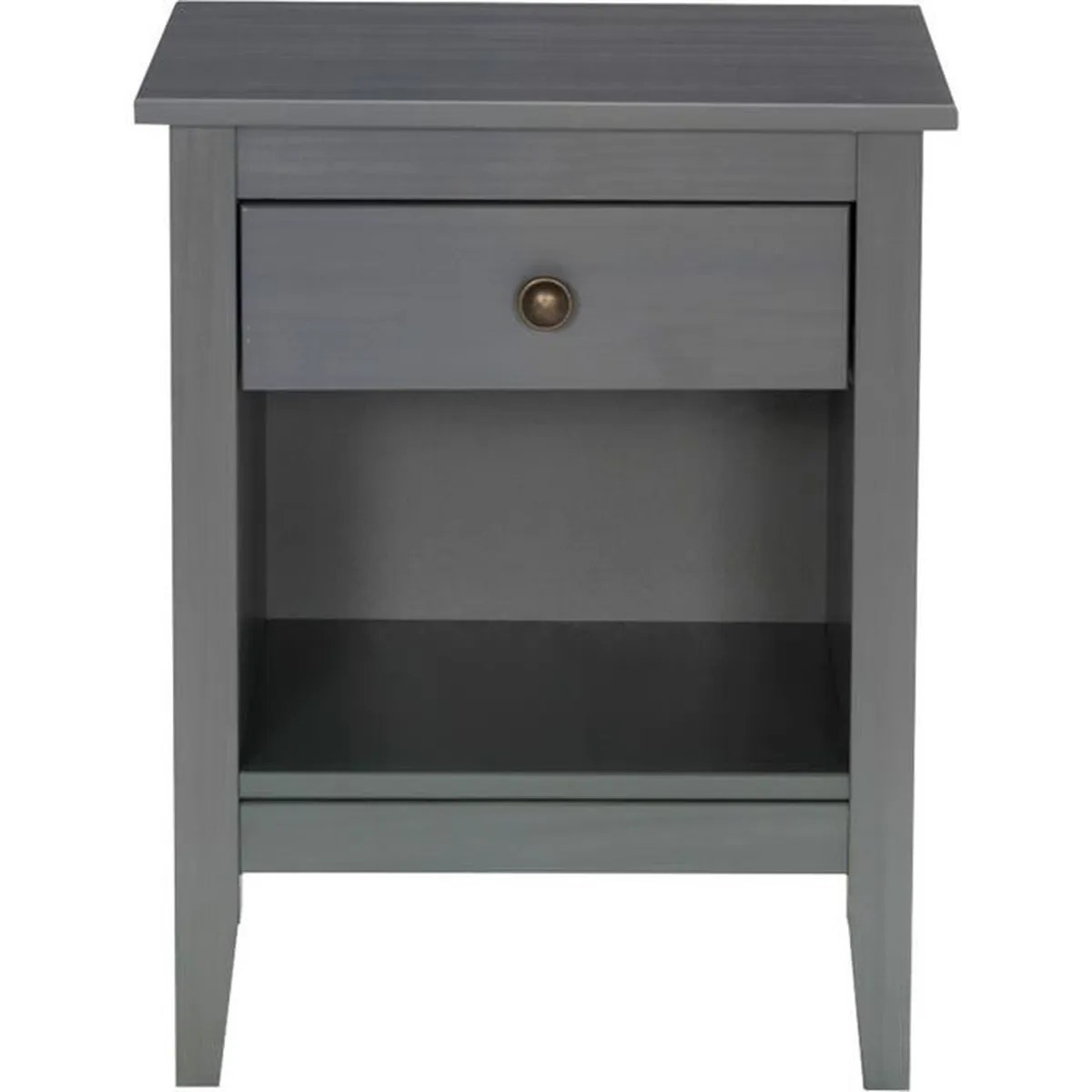 Table Chevet Metal Lison Table De Chevet Grise 1 Tiroir Et 1 Niche Gris