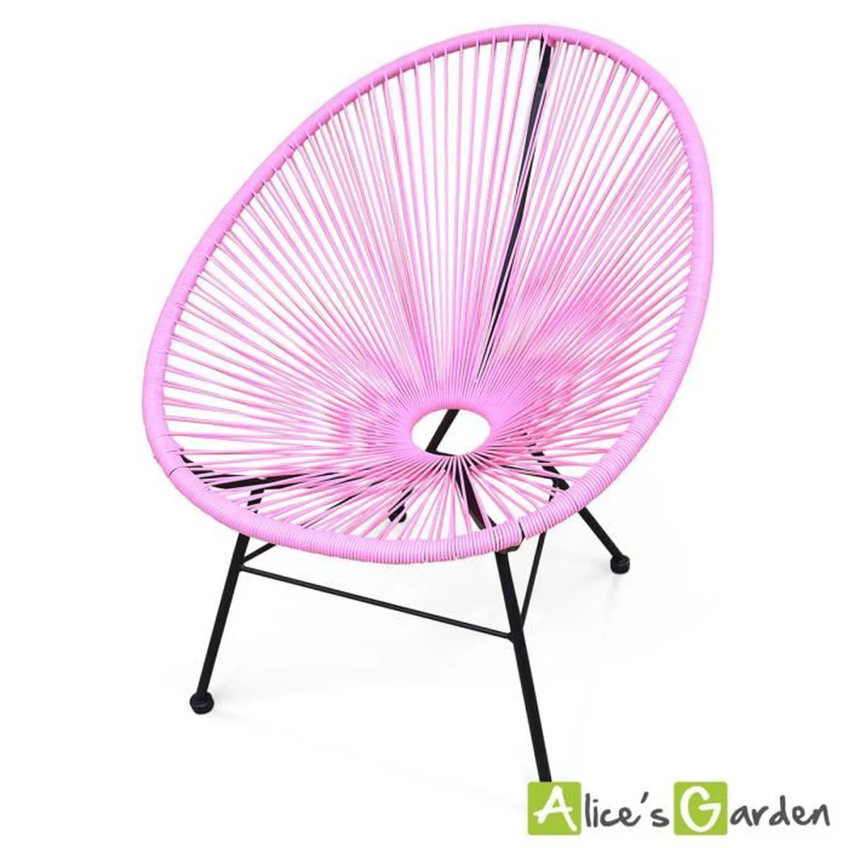 Acapulco Fauteuil Fauteuil Acapulco Chaise Oeuf Design Rétro Cordage Rose Achat