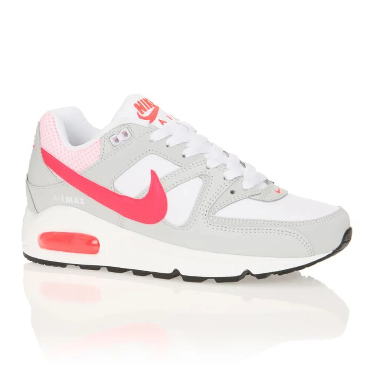 Nike Juvenate Nike Baskets Wmns Air Max Command Femme Femme Gris / Blanc