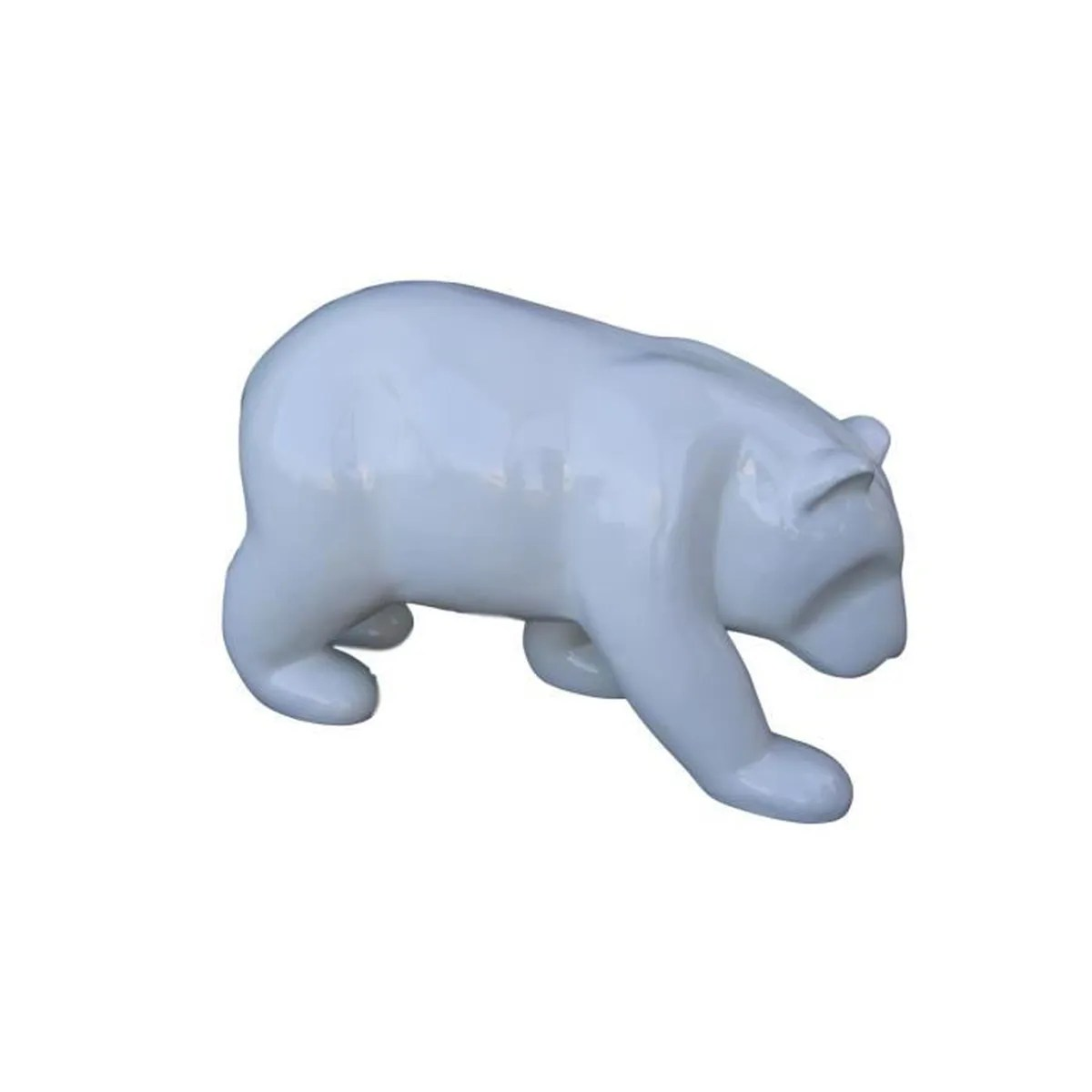 Decoration Chambre Ours Polaire Statue Sculpture Animal Decoration Resine Ours Polaire Design Blanc 80cm