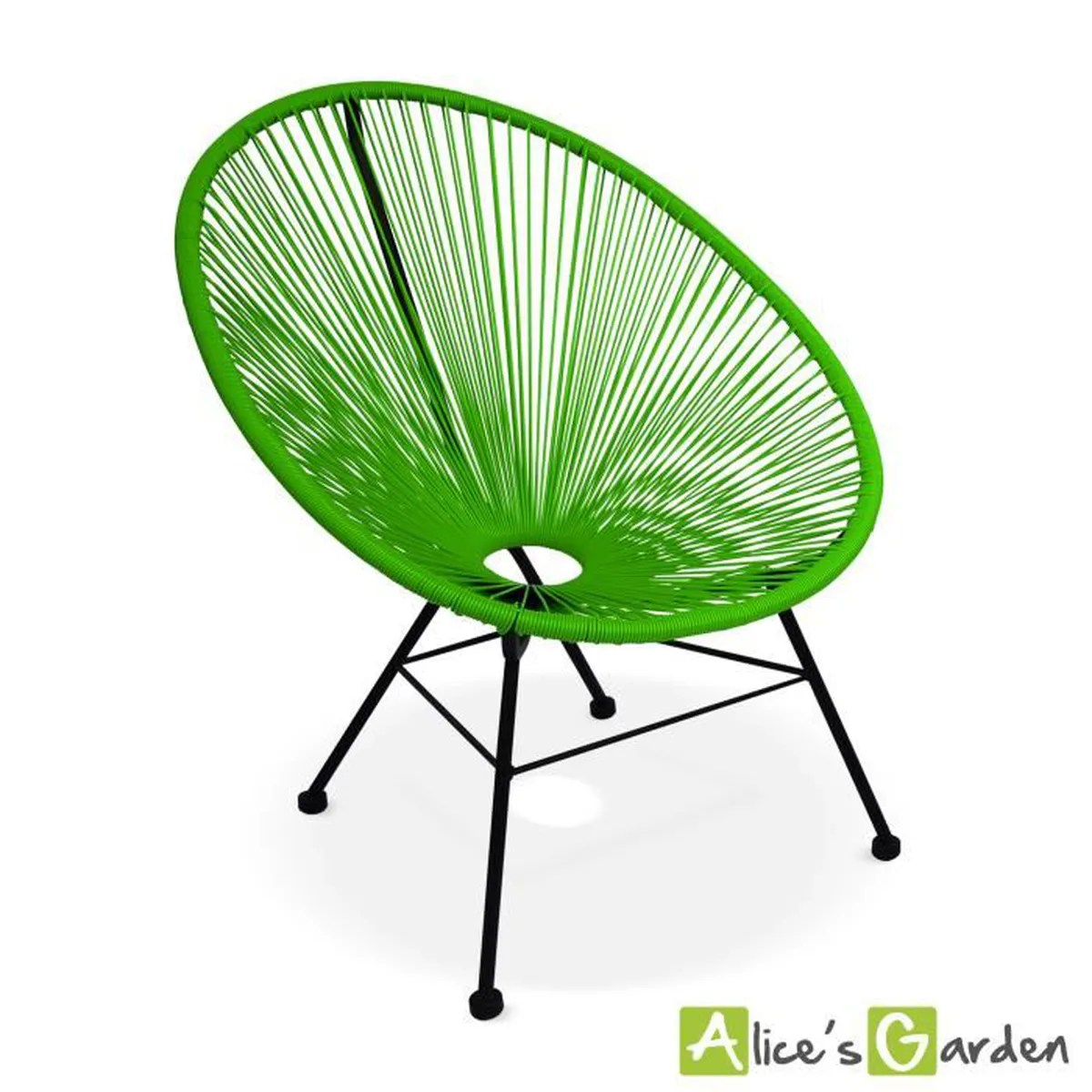 Acapulco Fauteuil Fauteuil Acapulco Chaise Oeuf Design Rétro Cordage Vert Achat