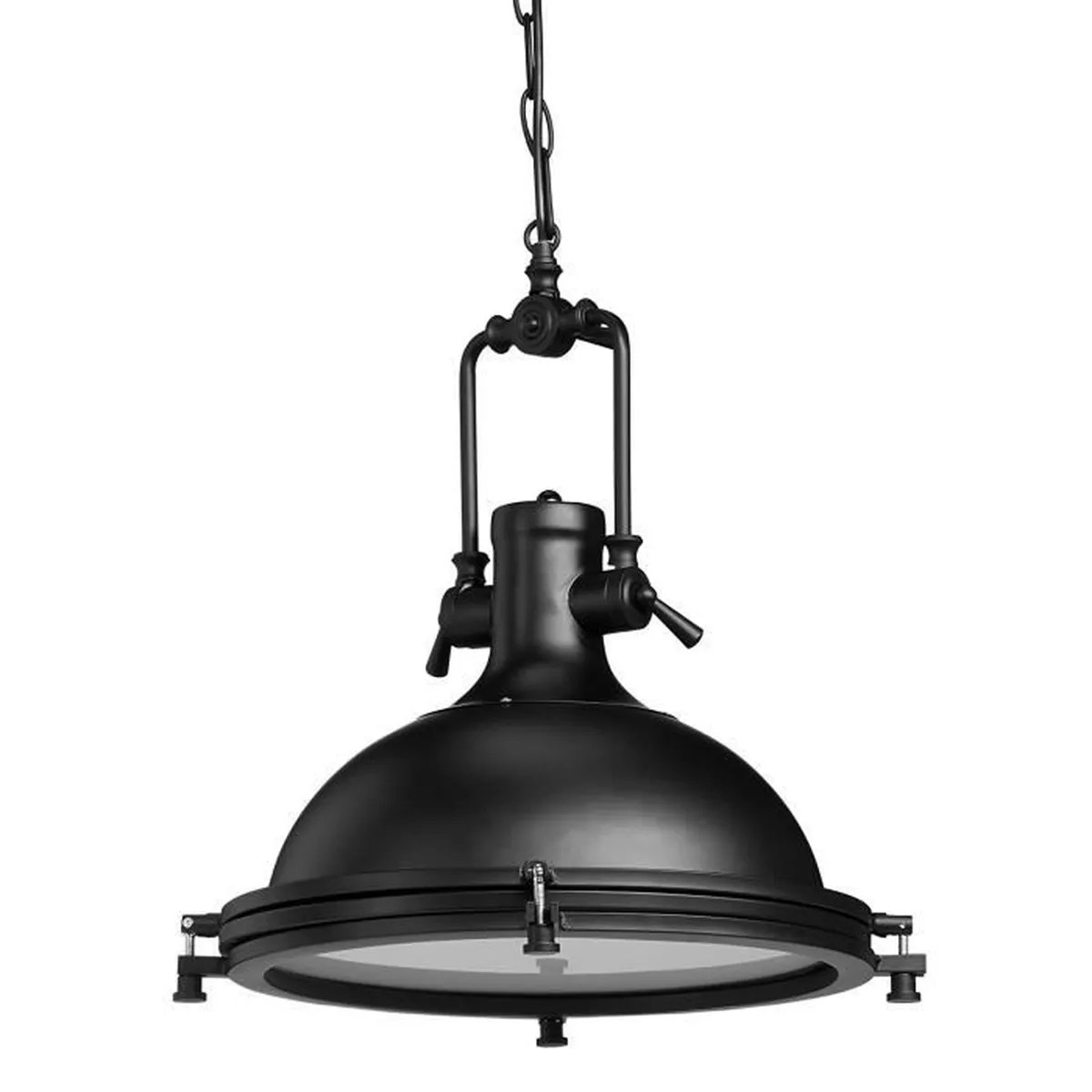 Lampe Suspension Style Industriel Lampe à Suspension Style Industriel Fer Et Verre Luminaire