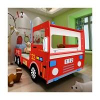 Superbe Lit pour enfant design camion de pompier rouge 200 ...