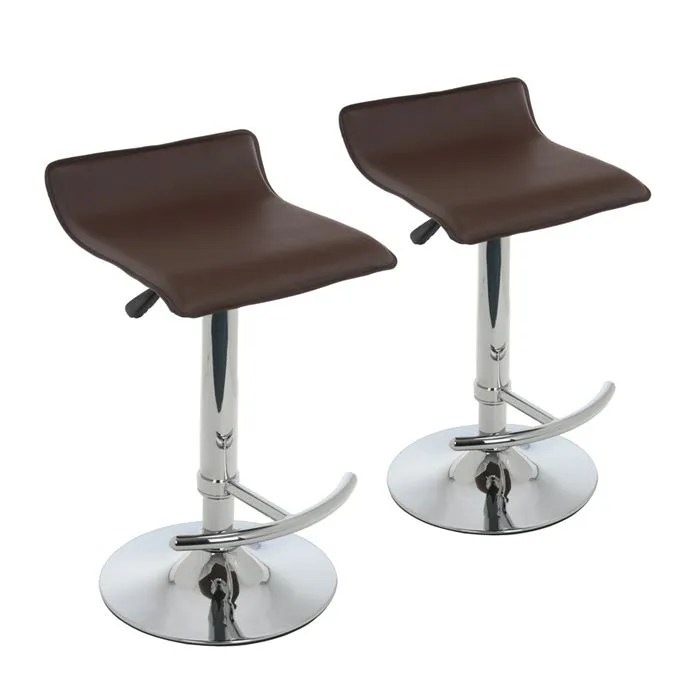 Lot 2 Tabourets De Bar Leather Achat Vente Tabouret - York Lot De 2 Tabourets De Bar Noir