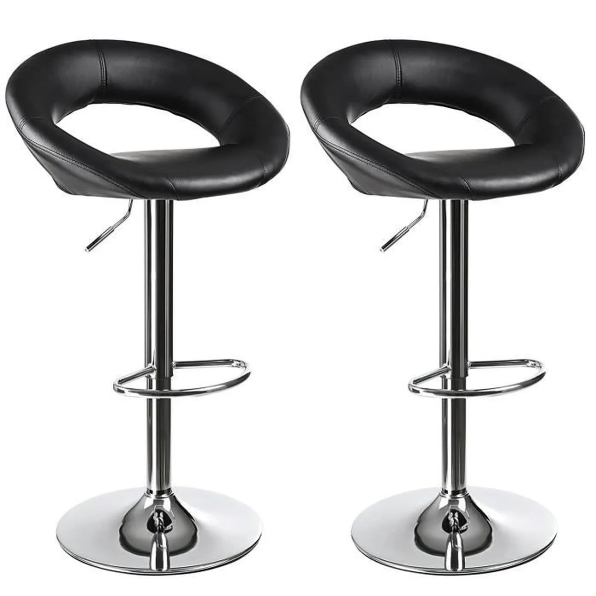 Fauteuils - Tabourets - Chaises Tabourets - Chaises Tabouret Songmics Lot De 2 Tabourets De Bar Haut Chaise De Bar Pu Chrome