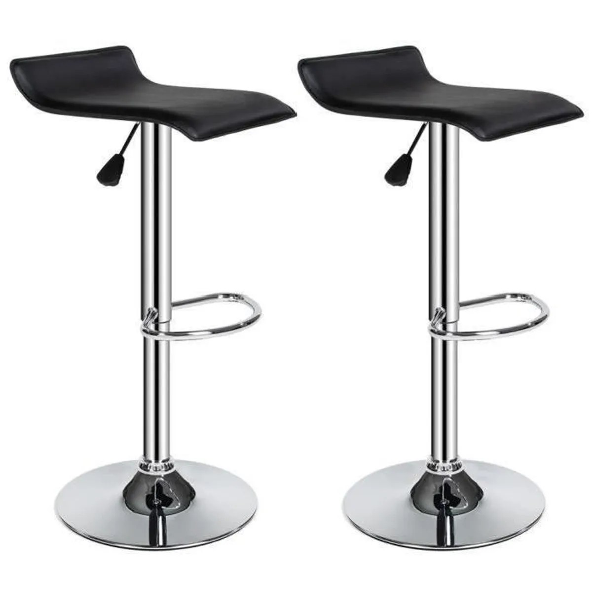 2 Tabourets Wave Tabouret De Bar Design Wave Lot De 2 Noir Achat Vente