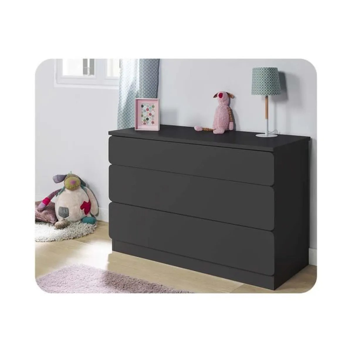 Commode Gris Anthracite Commode Enfant Twist Gris Anthracite Achat Vente Commode De