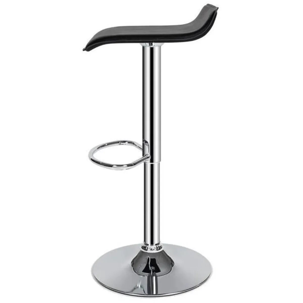 2 Tabourets Wave Tabouret De Bar Design Wave Lot De 2 Noir