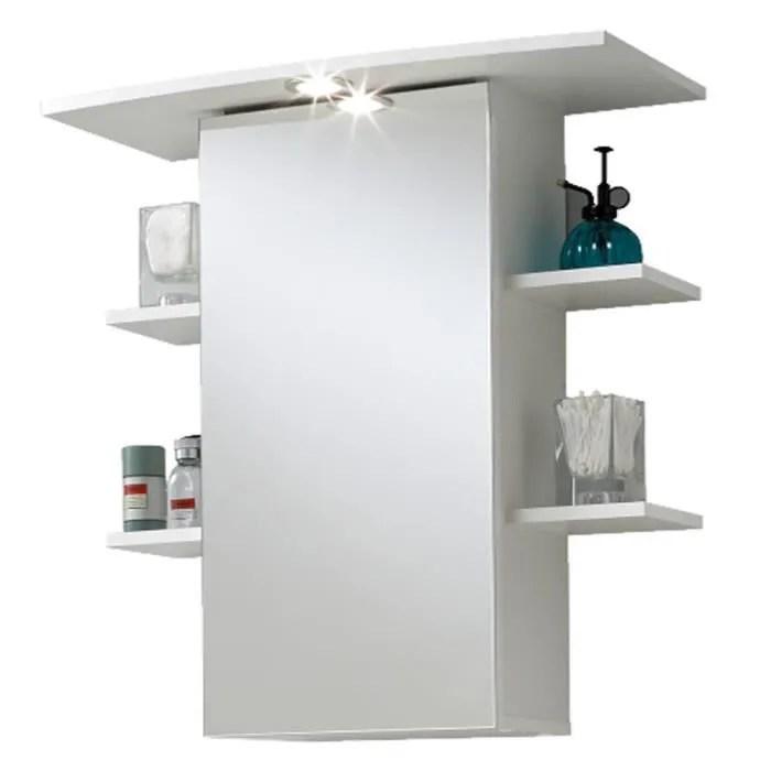 Armoire avec miroir pour salle de bains coloris blanc, L65 X H72 X - Meuble Avec Miroir Pour Salle De Bain