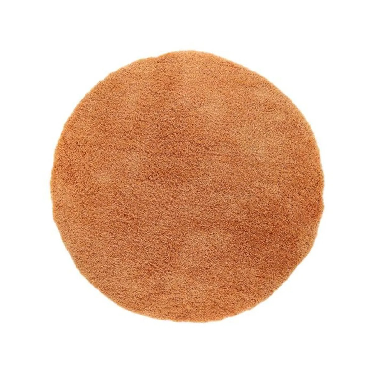 Tapis Shaggy Orange Tapis Shaggy à Poils Longs Sophie Orange ø 200 Cm Rond Tapis