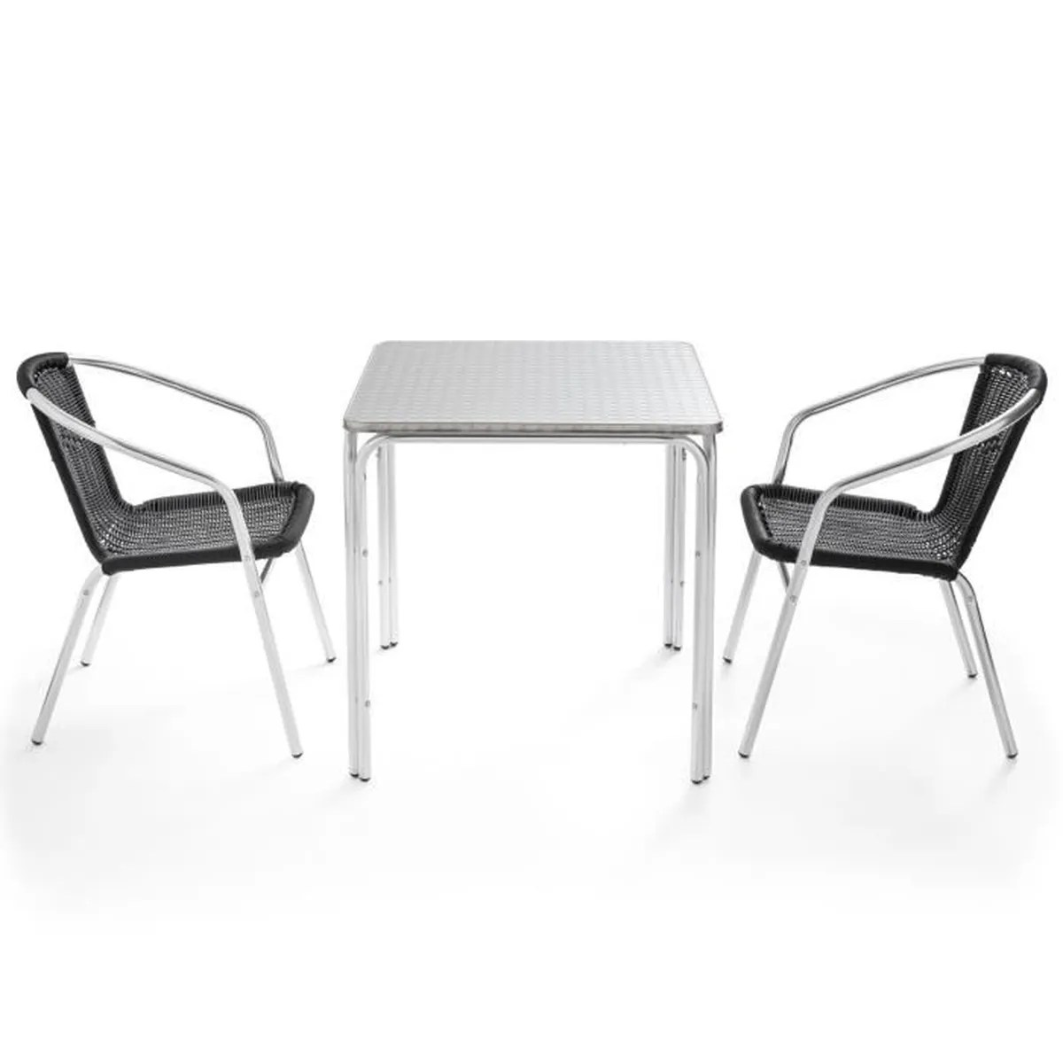 Table Et Chaise Terrasse Ensemble Table Et 2 Chaises De Jardin Style Bistrot Salon