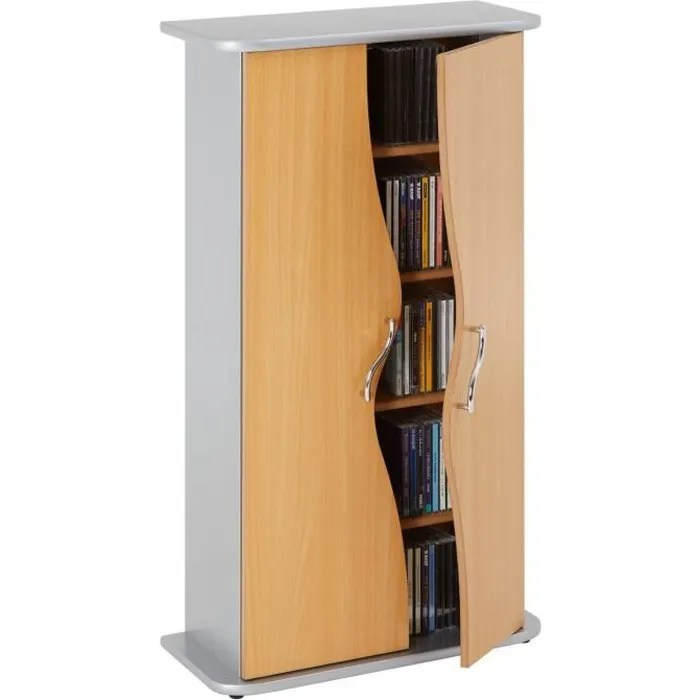 Meuble Range Cd Armoire Range Cd/dvd Wave - Achat / Vente Meuble Range Cd