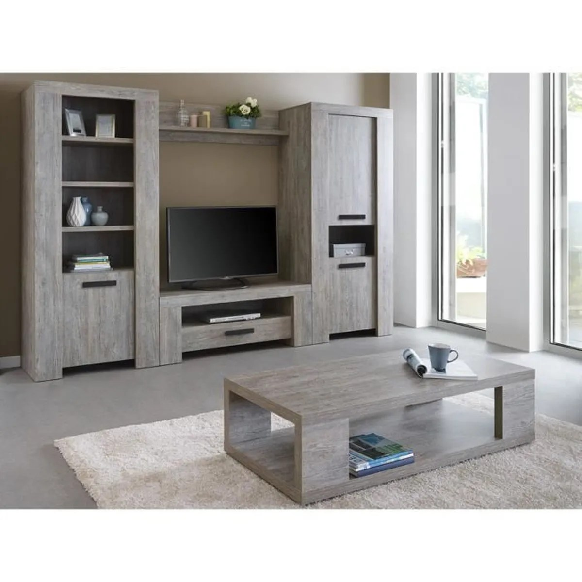 Cdiscount Ensemble Meuble Tv Colorado Table Basse 43 Ensemble Mural Gris Achat