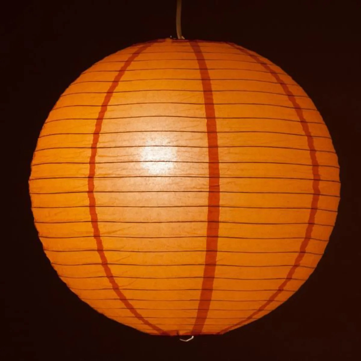 Suspension Papier Boule Suspension Boule Papier Orange Ø 40cm Câble 80cm Achat Vente