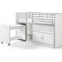 Vipack Lit Mezzanine + Bureau + Rangement 90x 200 Bonny ...