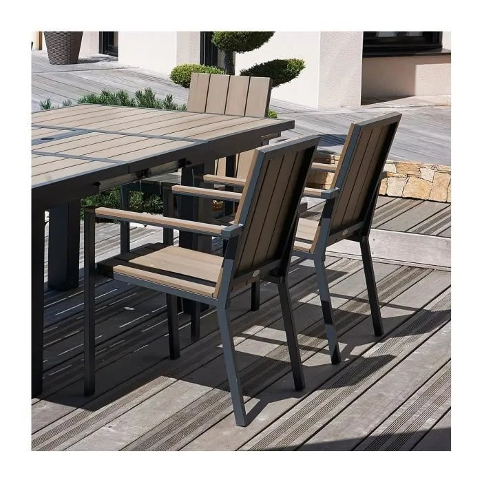 Table De Jardin Allibert Salon De Jardin - Table Rallonge Papillon + 6 Fauteuils