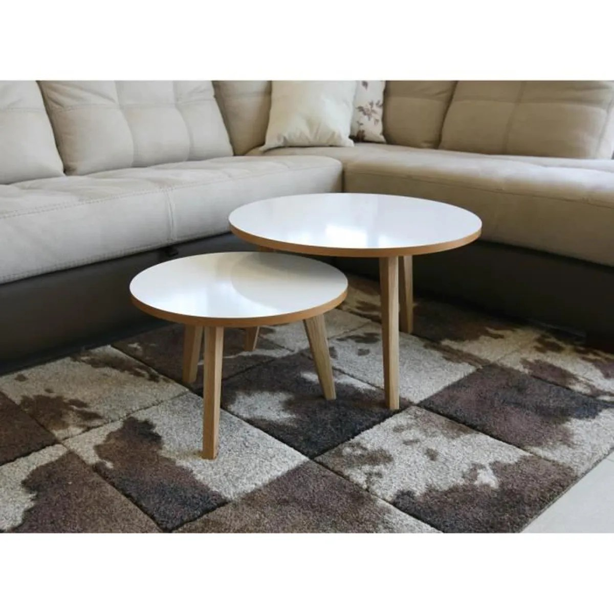 Table Salon Gigogne Table Basse Gigogne Jimi Lot De 2 Design Scandinave