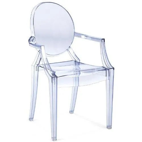 Kartell 4852j5 Chaise Louis Ghost Bleu Transparent Achat - Fauteuils Transparents