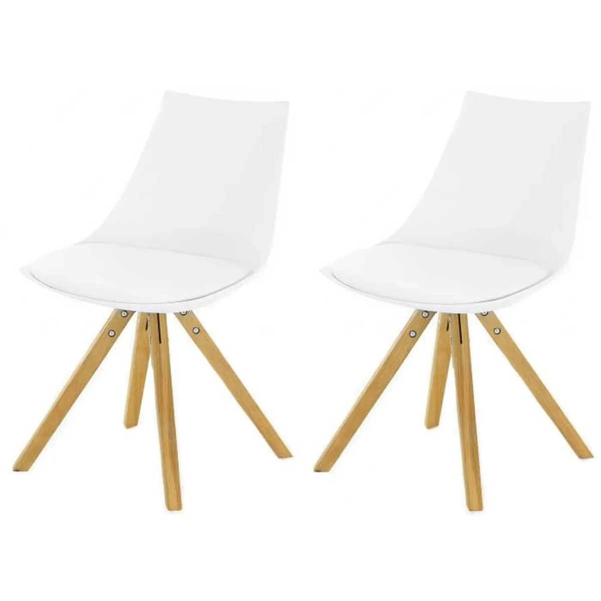 Chaises Blanche Scandinave Lot De 2 Chaises Scandinaves Blanche Turin