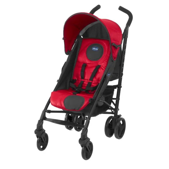 Poussette 3 Roues Hauck Chicco Poussette Canne Lite Way Red Wave Rouge Achat