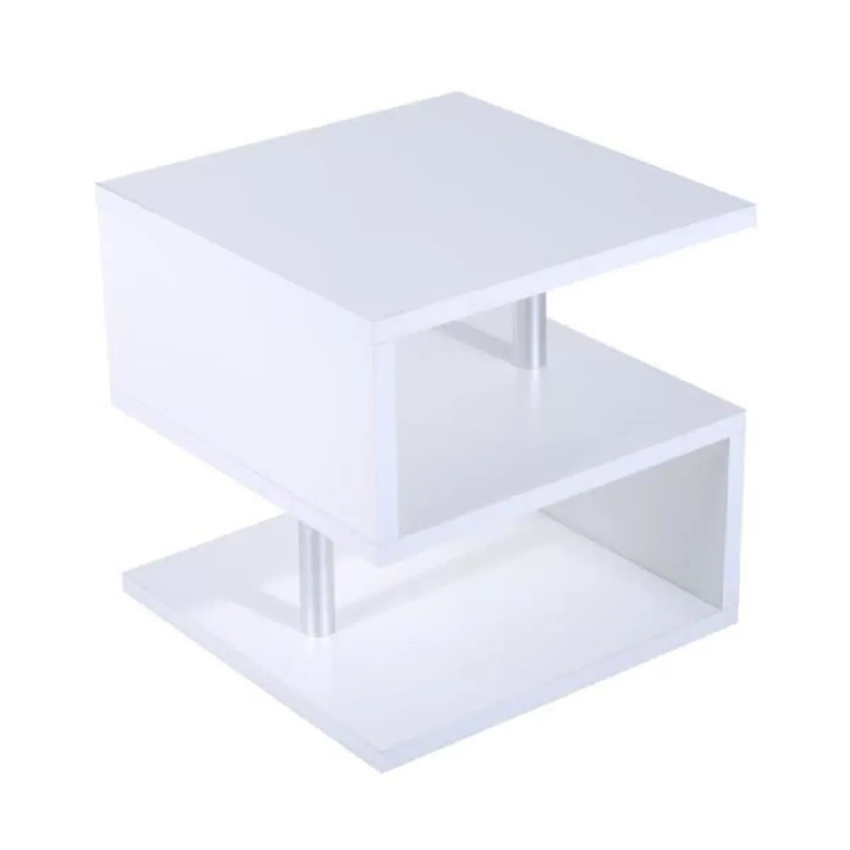 Table Basse Carre Laquee Blanc Achat Vente Table Basse - Table De Salon Moderne