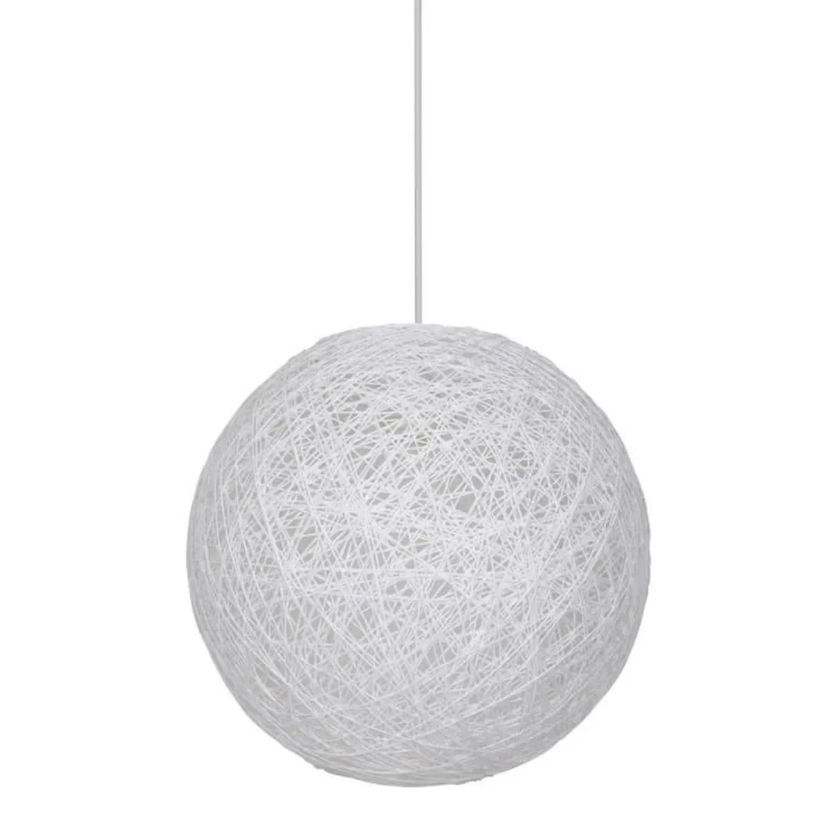 Suspension Tressee Suspension Moon Boule Ficelle Tressée 34 Cm Blanc Achat Vente