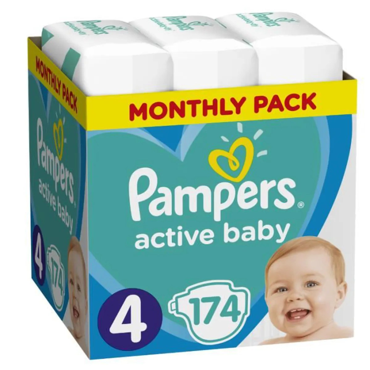 Couche Pampers Prix Pampers Baby Dry Couches Taille 4 8 à 14 Kg X174 Couches 1