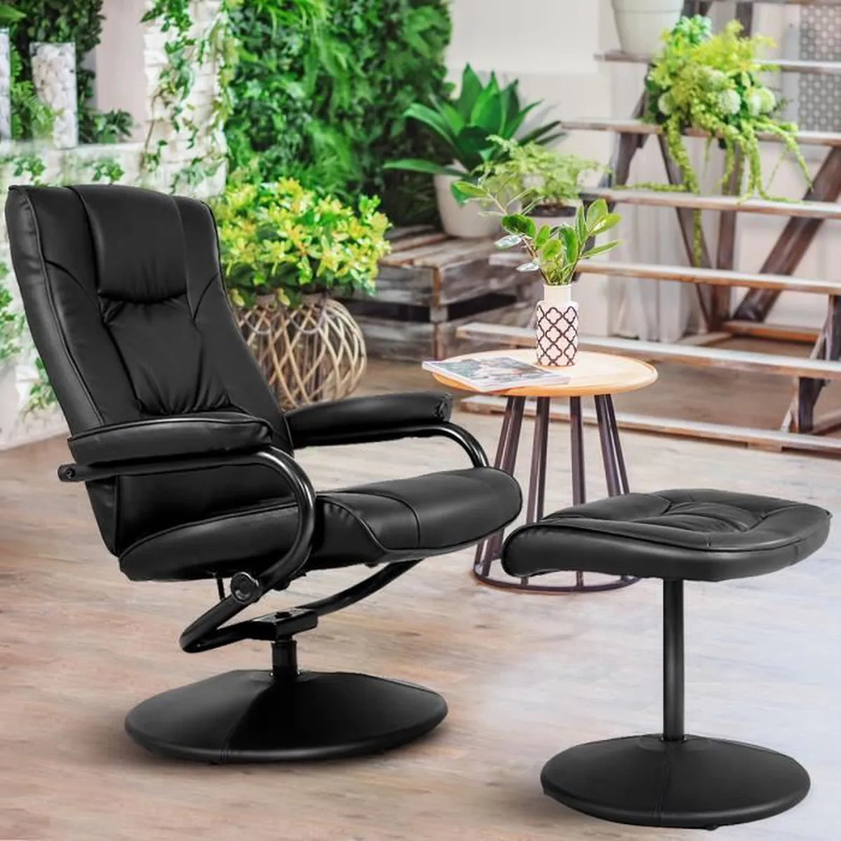 Siege Relax Fauteuil Relax Inclinable Fauteuil De Relaxation Avec Repose Pieds