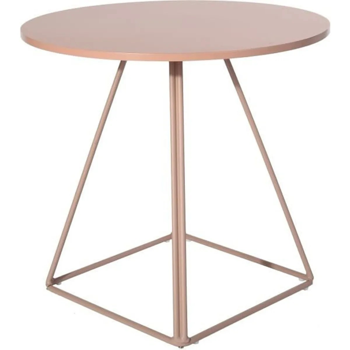 Table Ronde 80 Cm 4 Personnes Table à Manger Ronde 80cm Rose