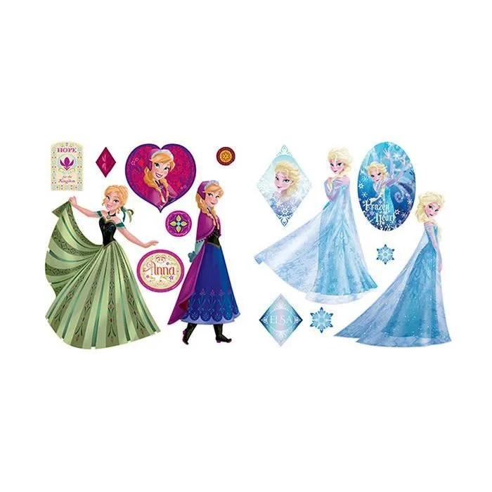 Stickers Repositionnable Reine Des Neiges Achat Vente - Sticker Mural Reine Des Neiges
