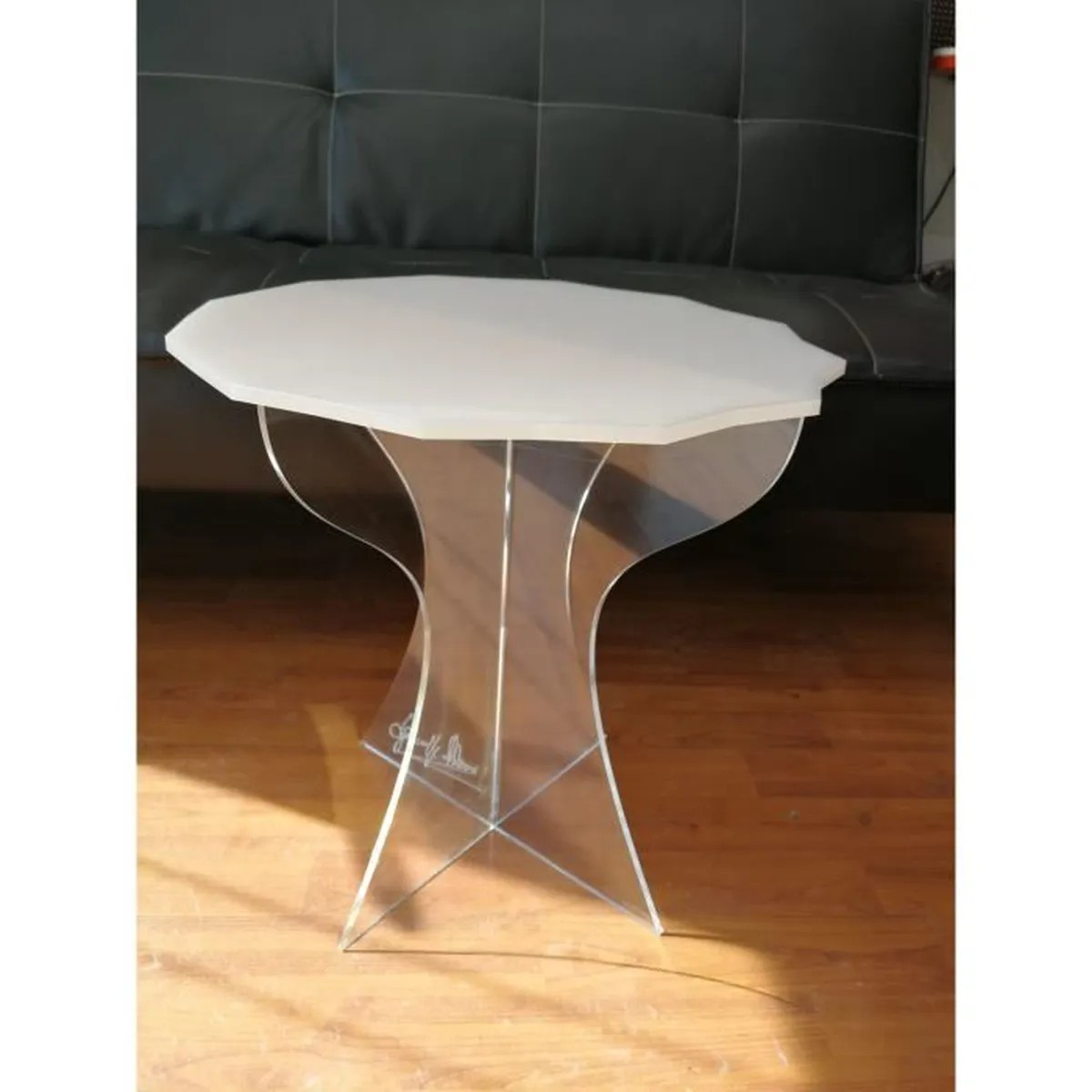 Table Transparente Plexiglass Table Basse Effett Verre Acrylique Transparent Table Basse Plexiglass Table Moderne De Sejour Salon