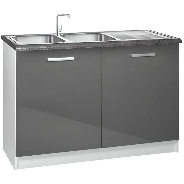 Meuble bas cuisine 120 cm avec tiroirs - Achat / Vente pas cher