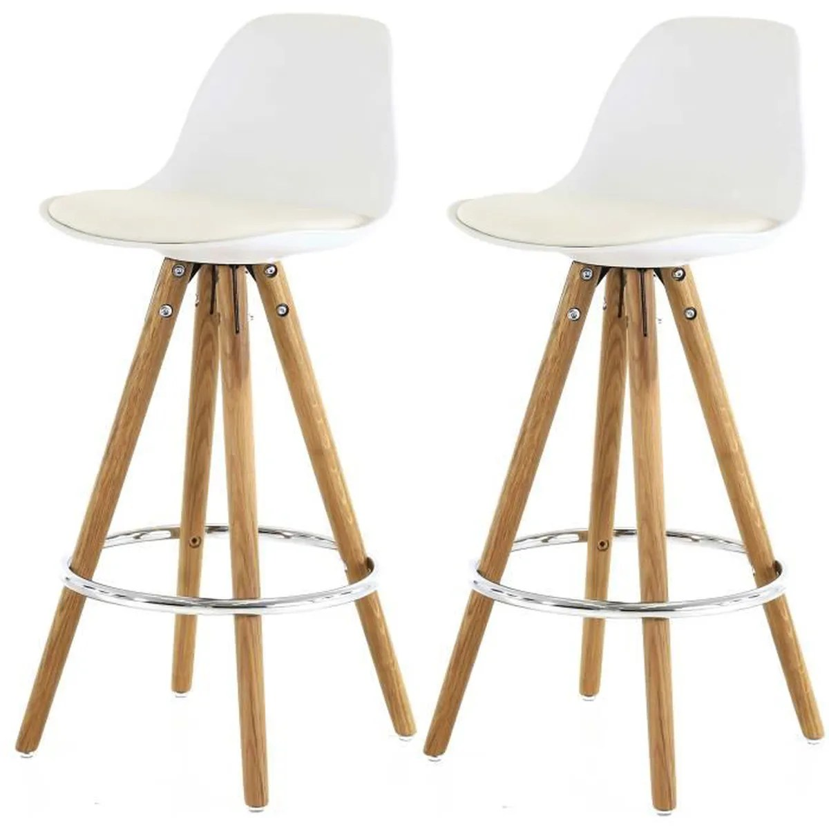 Tabouret Bar Cocktail Scandinave Lot De 2 Tabourets De Bar Scandinave Blanc Uma Achat