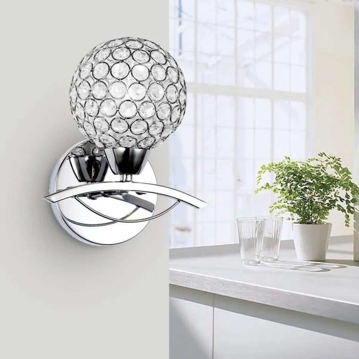 Applique Murale Bureau Lightess Applique Murale Design Cristal 1 Ampoule Incandescent