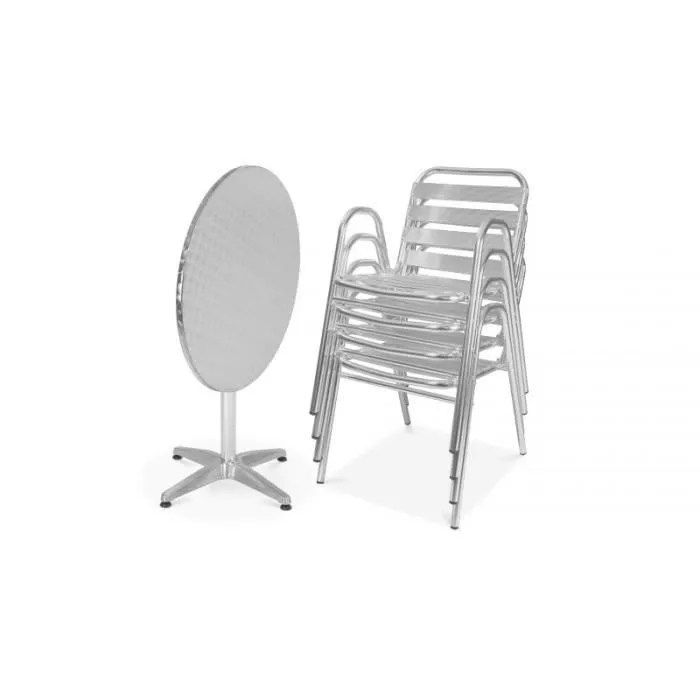 Table Salon Chaise Salon De Jardin Table Et Chaises Terrasse Bistrot 4 Places