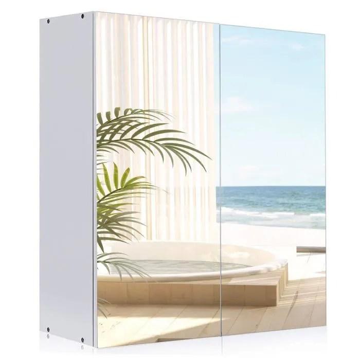 Armoire de Toilette avec Miroir Armoire de Salle de Bain Murale avec