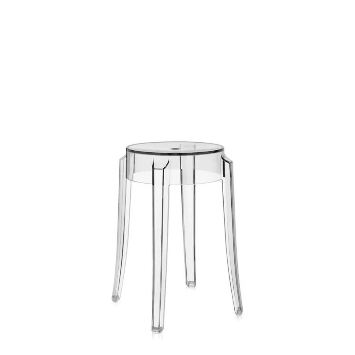 Tabourets Bar Exterieur Cdiscount Kartell Tabouret Charles Ghost H46 Cm Cristal Achat