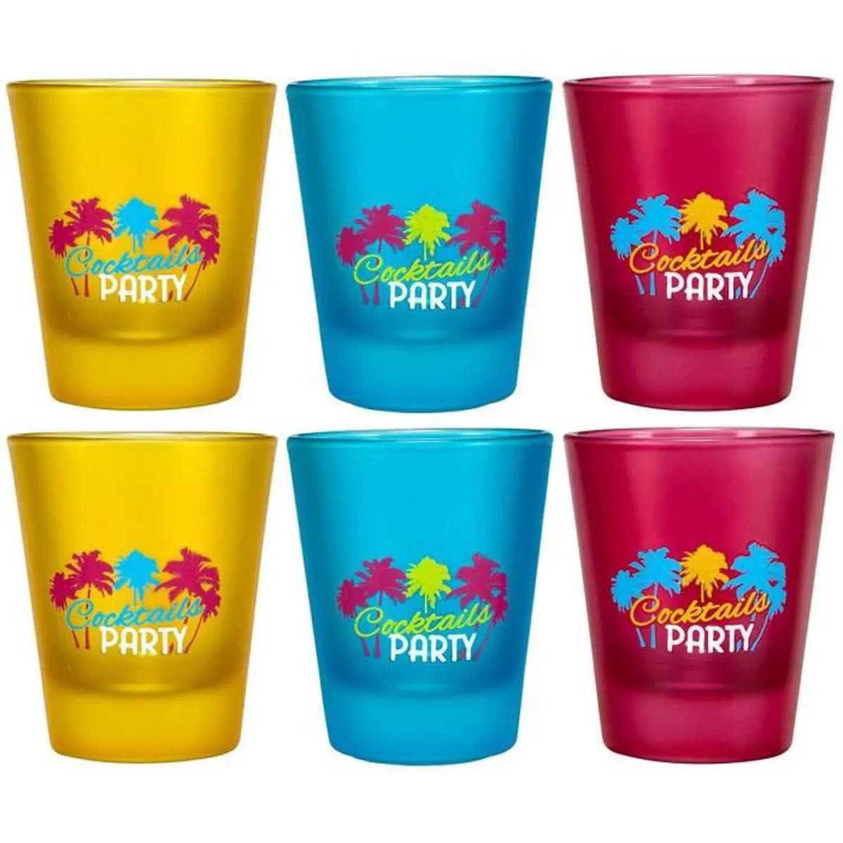 Verre Whisky Tete De Mort Set Lot 6 Verres A Shot Shooters Cocktail Fluo Glow In The