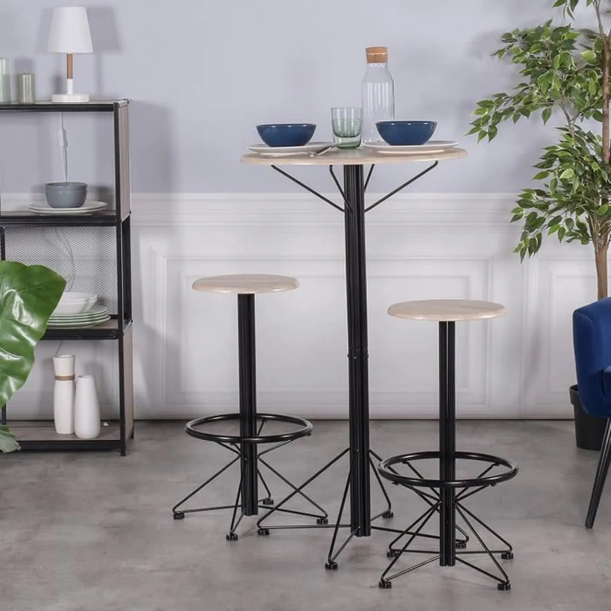 Tables Hautes De Cuisine Ensemble Table De Bar Set 1 Table 2 Chaises Table Haute Cuisine 3pcs Scandinave Style Pour Pub Ou Solarium Hêtre