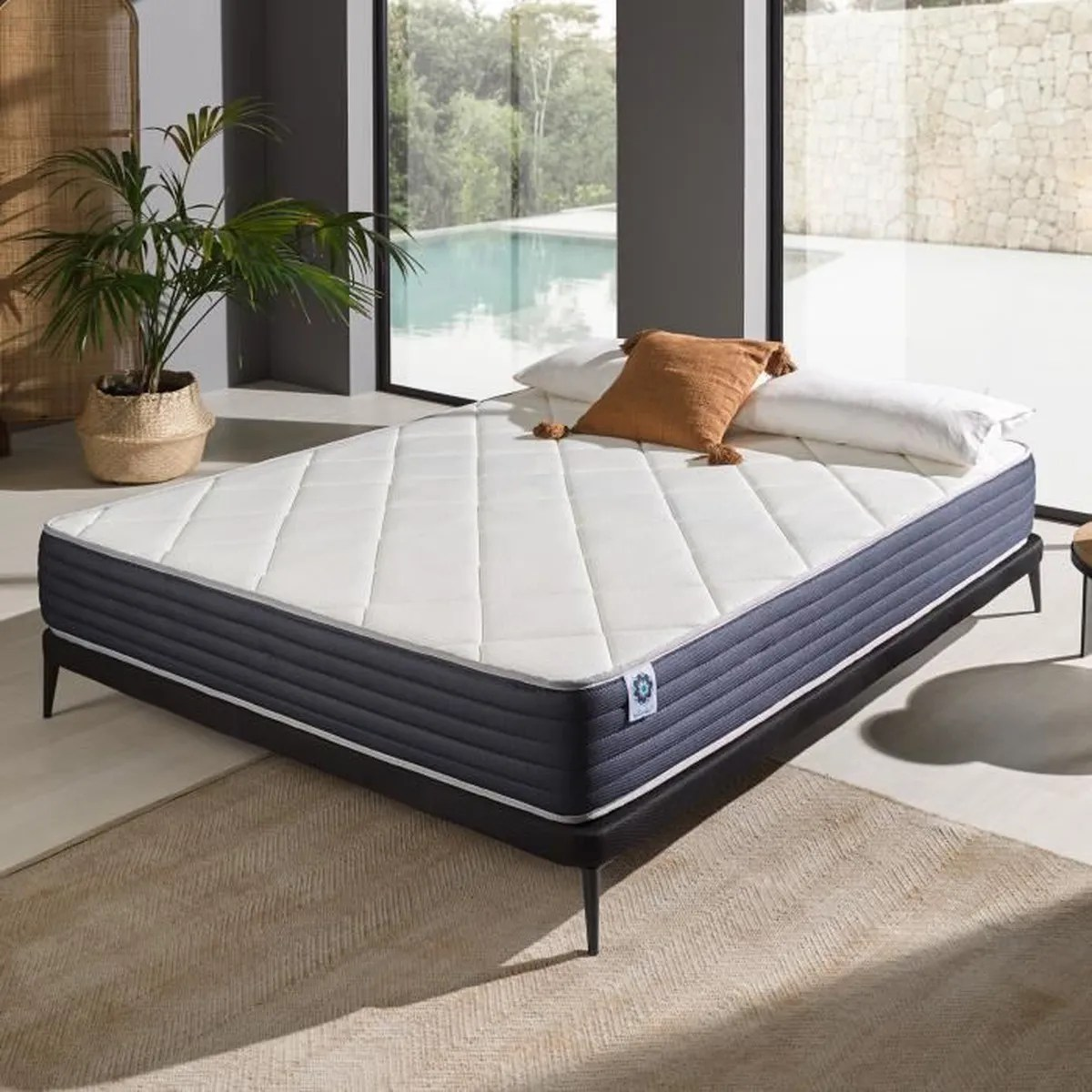 Matelas Latex 160x200 Matelas 160x200 Cm En Mousse Blue Latex 43 Confortable à 7