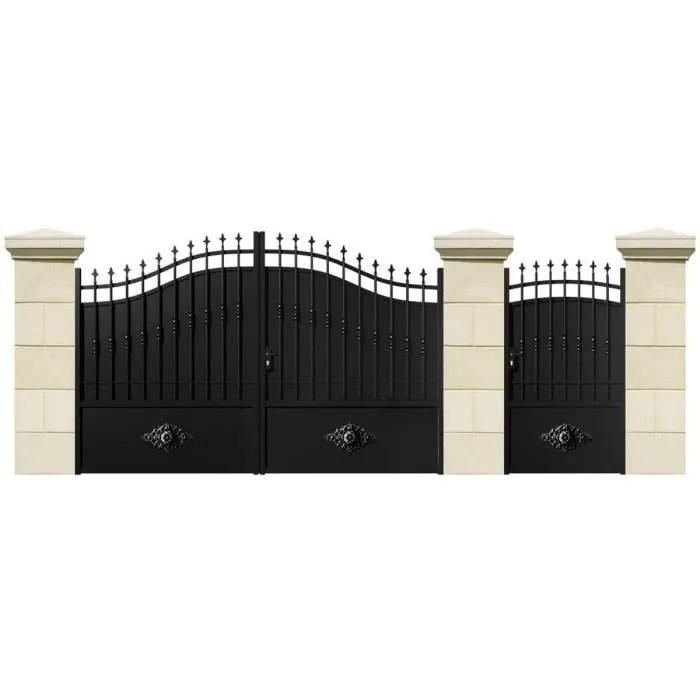 portail-battant-guadeloupe-fer-3-mjpg (700×700) Portail Pinterest - portail de maison en fer