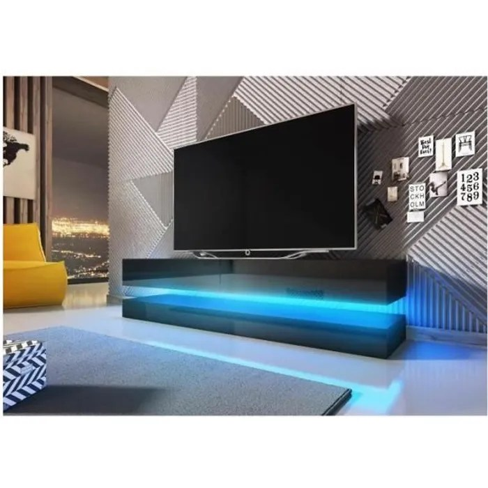 Meuble Tv Led Fly Meuble Tv Design Suspendu Fly 140 Cm à 2 Tiroirs, Coloris