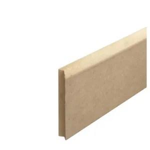 Plinthe MDF Plaqué bois BRUT A PEINDRE - Ep14 x l80 x L2250 mm - Plinthes Bois A Peindre