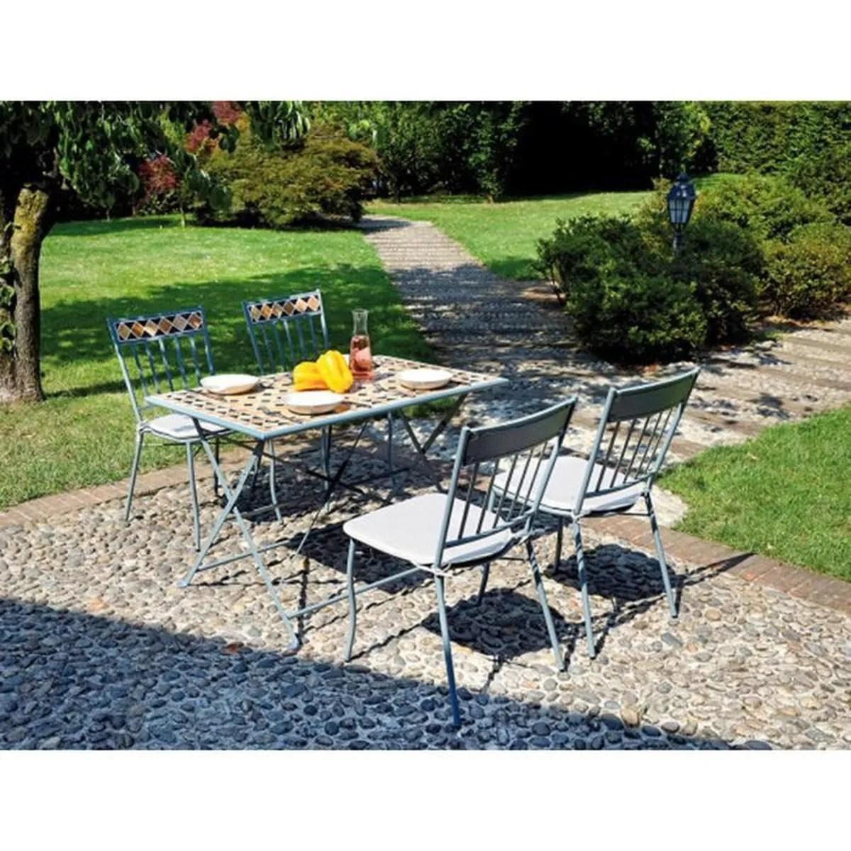 Table Jardin Mosaique Ronde | Table De Jardin En Mosaique Excellent ...