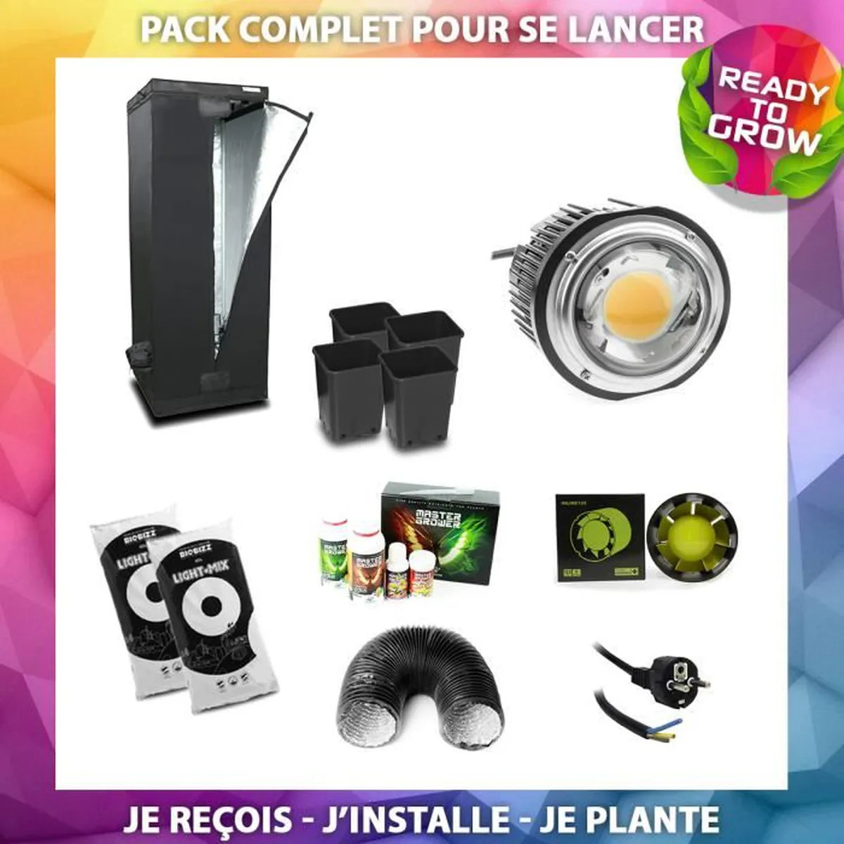 Kit Complet Chambre De Culture Pas Cher Pack Complet Homelab Spectrabud X60 Chambre De Culture Lampe Led Horticole Extracteur De Gaine Profan Ready To Grow