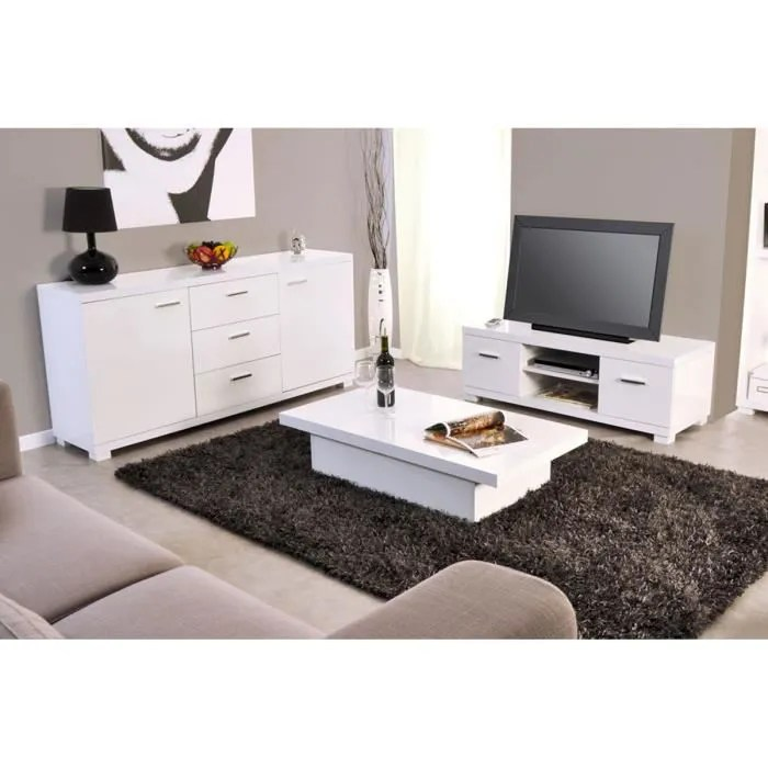 Ensemble Meuble Tv Buffet Ensemble Meuble Tv + Table Basse + Buffet Blanc… - Achat